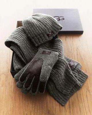 Set toplih rukavica, šal i kapa