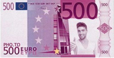 Lažnih 500 evra sa slikom slavljenika